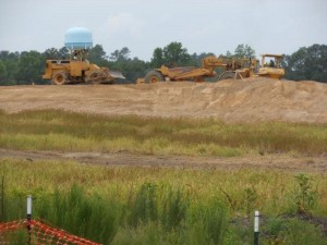 Road construction continues on I-73 through Richmond County as an interchange develops south of Ellerbe on U.S. 220 where I-73 will branch off toward the Pee Dee River to connect with the U.S. 74 Bypass of Rockingham.