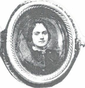 This daguerreotype, the most commonly used photographic process at the time, is of a young Cynthia Cole, mistress and common-law wife of Col. H.W. Harrington.